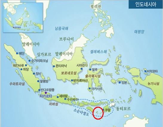 인도네시아 현지 지도