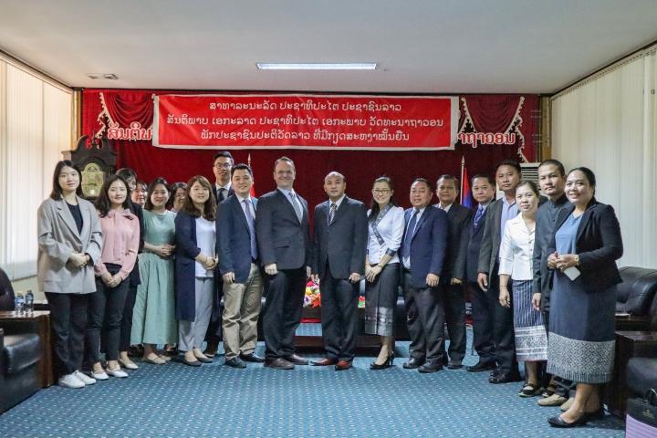 (사진3) 라오스 법무부 산하 4개 법무연수원 원장단과 협력 회의